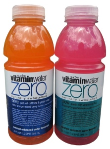 VitaminWater Zero Drive and Glow