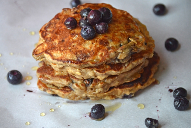 No Sugar Blueberry Pecan Pancakes