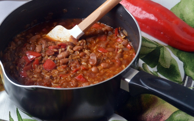 Mexican Rice & Beans close-up 2